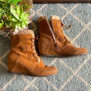 🌟Naturalizer BONNY leather faux fur boot 🌟